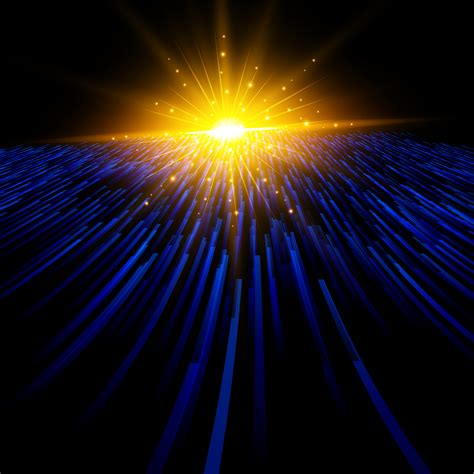 abstract technology blue light laser lines perspective