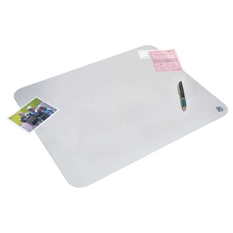 clear eco poly desk pad with m