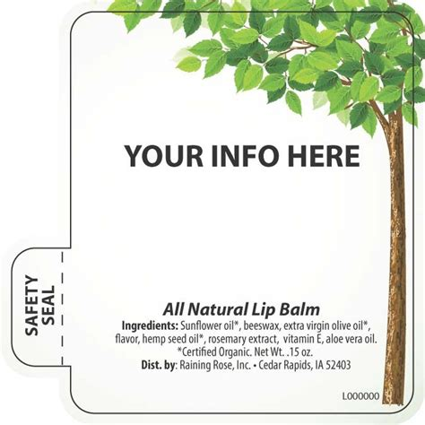 chapstick label template customizable lip balm template lip balm your way