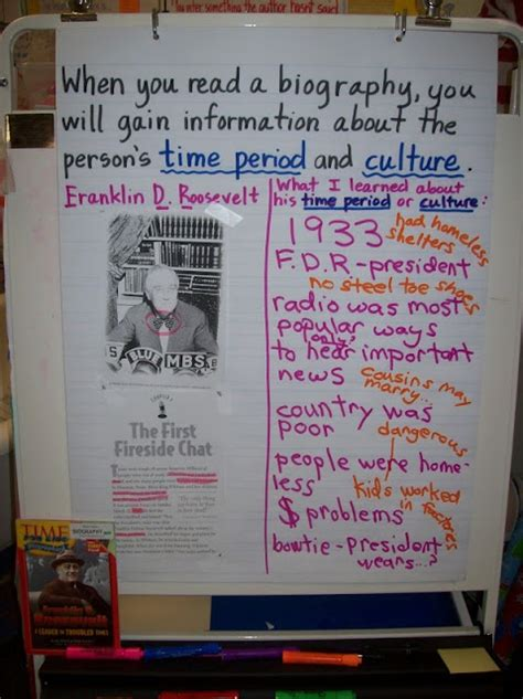 autobiography anchor chart anchor charts pinterest biography chart anchor charts pinterest
