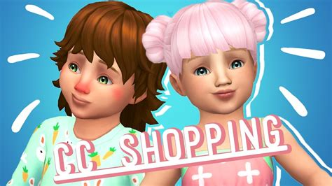 sims 4 toddler cc the sims 4 toddlers cc shopping showcase youtube