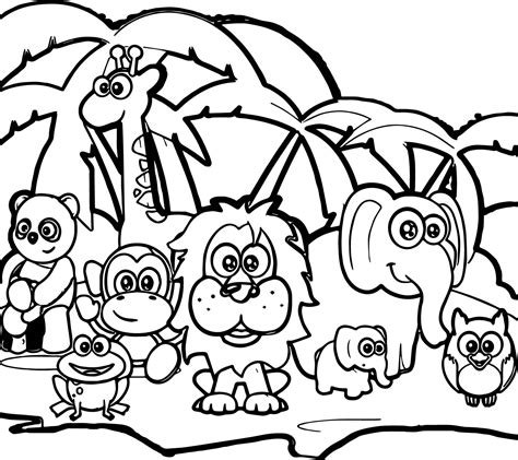 animal color pages coloring pages of forest home forest animals coloring