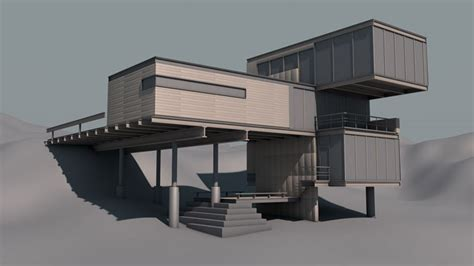 architecture model galleries architecture home free c4d model modern architecture building the pixel lab