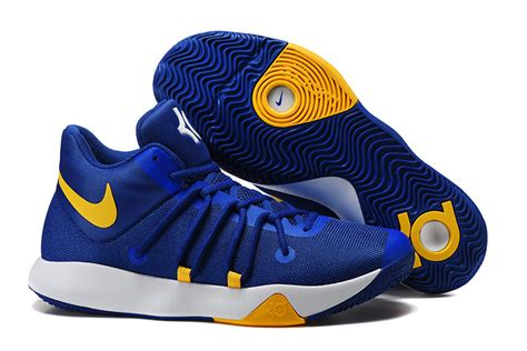 blue and yellow nike basketball shoes nike kd trey 6 blue yellow basketball shoes for sale