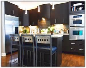 Dark Kitchen Cabinets With Dark Floors dark wood kitchen cabinets with dark wood floors home design ideas