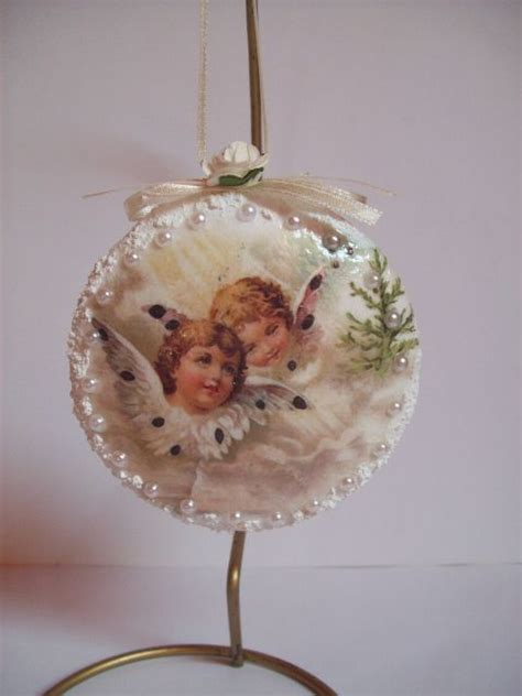 Decoupage Ornaments - decoupage joannay handmade by joannay