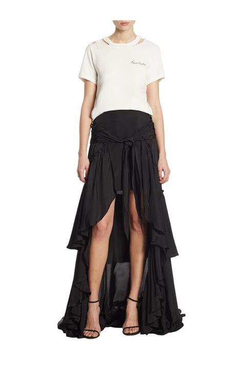Amora Maxi 8 amora ruffled hi lo maxi skirt by cinq a sept at orchard mile