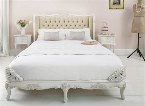 provencal velvet upholstered bed shabby chic style bedroom other metro by the french