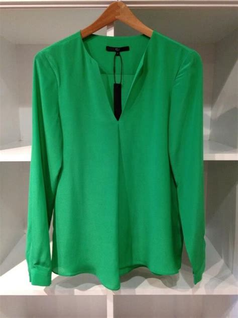 Emerald Blouse by Emerald Green Blouses Leopard Trim Blouse
