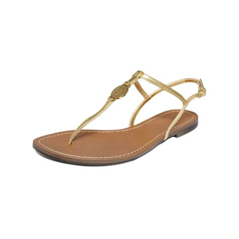 ralph flat shoes by ralph aimon flat sandals in gold lyst