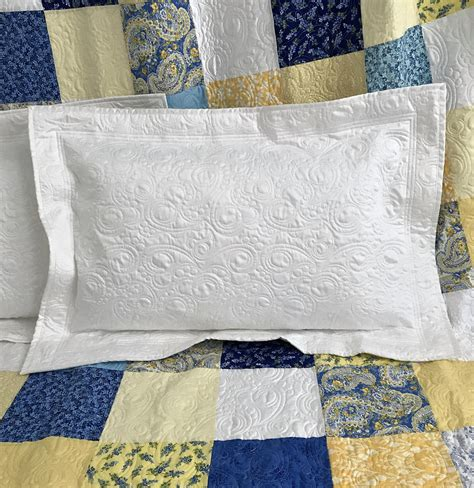 what size pillow for sham quilted pillow sham standard size custom quilt etsy