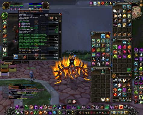 wow armory lite sold legendary warlock 210 k gold 398 ilvl 3 85 alts rag