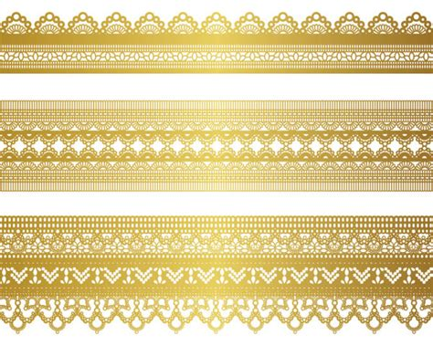 gold pattern border gold lace pattern 04 vector download free vector 3d