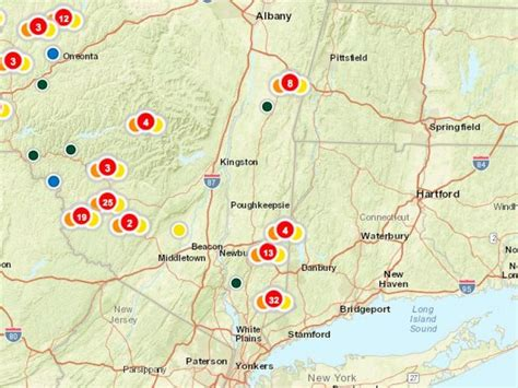 nyseg power outage map power outages reported by nyseg customers in putnam county