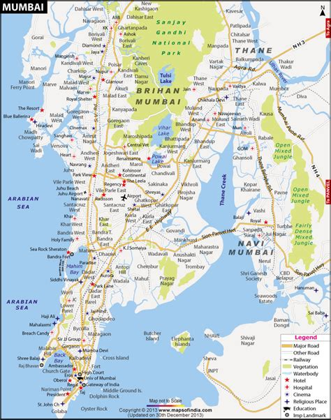 mumbai map travel india
