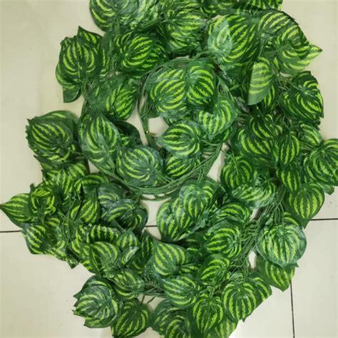 daun rambat semangka daun artifical daun dekorasi