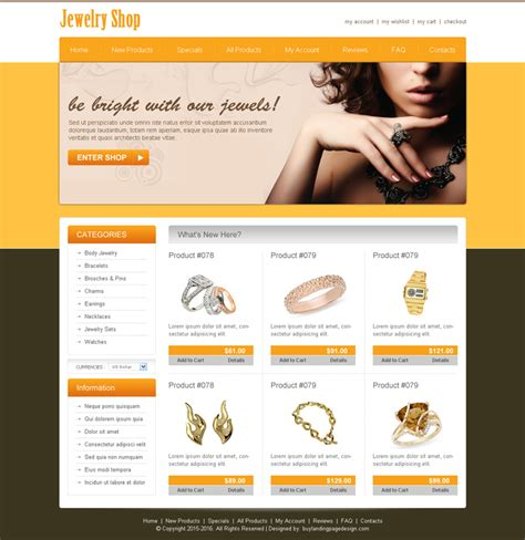 best store templates jewelry website templates