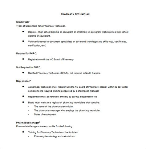 Pharmacist Duties by Pharmacy Technician Description For Resume