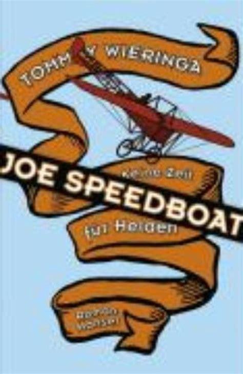 jo speedboot bol joe speedboat tommy wieringa 9783446207707