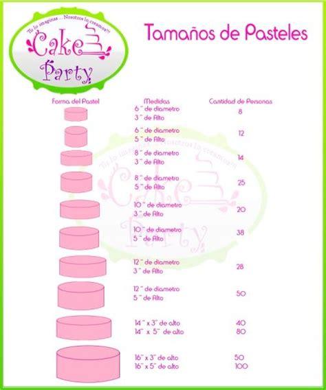 Medidas De Pasteles | medidas para saber el tama 241 o de pastel pasteles