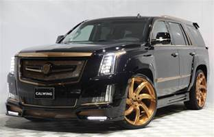 Cadillac Escalade Calwing Cadillac Escalade Goes Black Gold