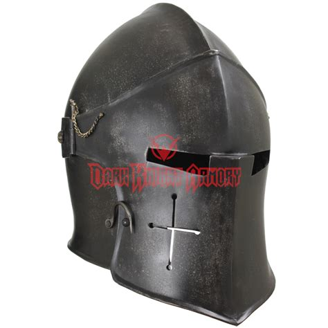 Elite Home Decor epic dark visored barbuta helmet mci 2429 from dark