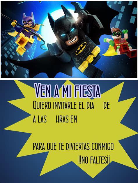 imagenes cumpleaños batman invitacion de cumplea 241 os de lego tips e ideas