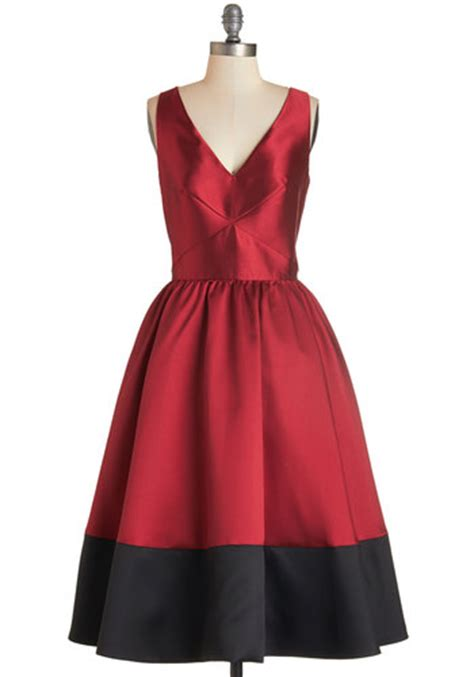 Modcloth Cqs New Vintage Obsession by Picture Perfection Dress In Mod Retro Vintage