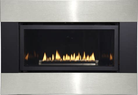 modern vent free fireplace loft series small direct vent millivolt gas
