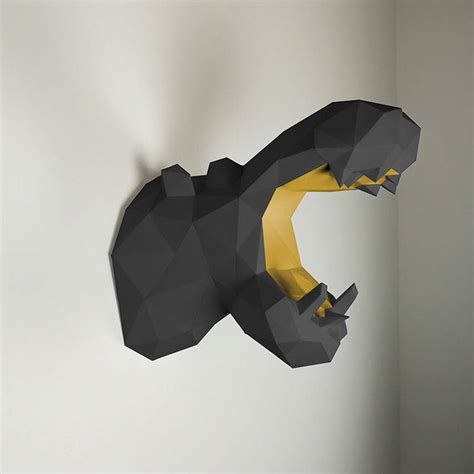 Paper Animals - new paper animal trophies fubiz media