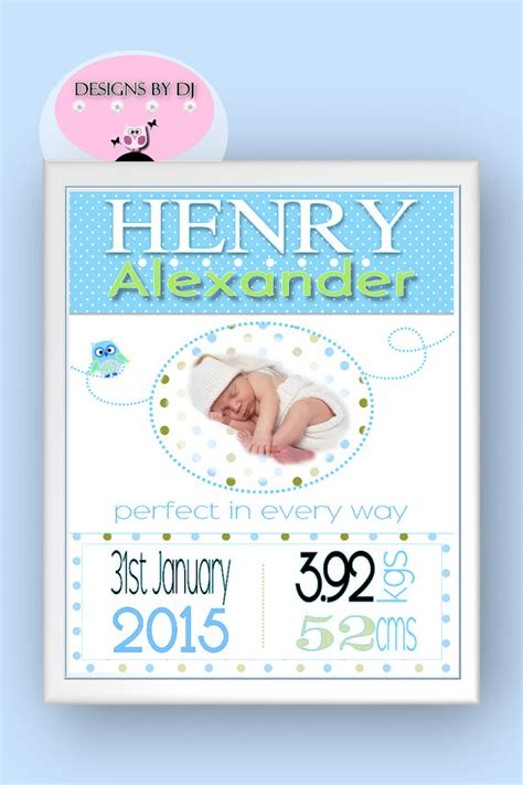personalized baby boy gifts custom baby boy birth by
