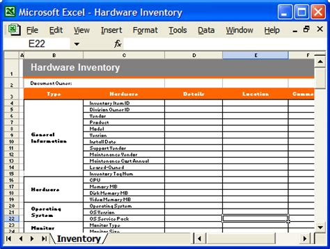 pc inventory template operations guide ms word template