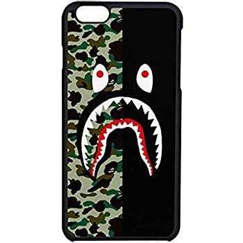 Iphone 6 6s Bape Bathing Ape Stickerbomb Shark Hardcase Cover bape shark colorfull 3 for iphone 7 home