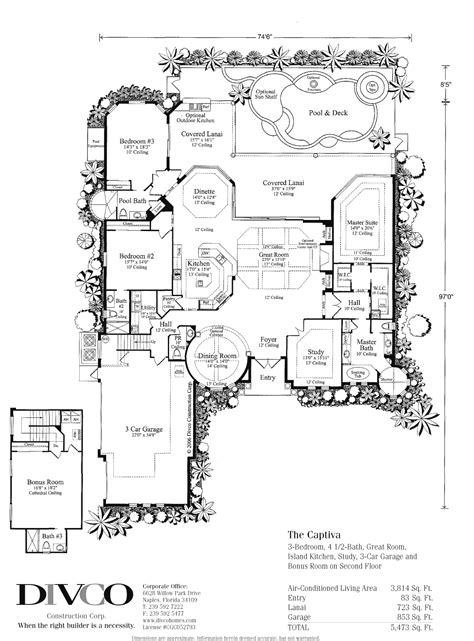 Custom Home Builder Floor Plans by Custom Home Builder Naples Florida Divco Floor Plan The