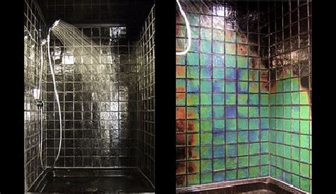 two great bathroom tile choices for the contemporary - Color Changing Bathroom Tiles