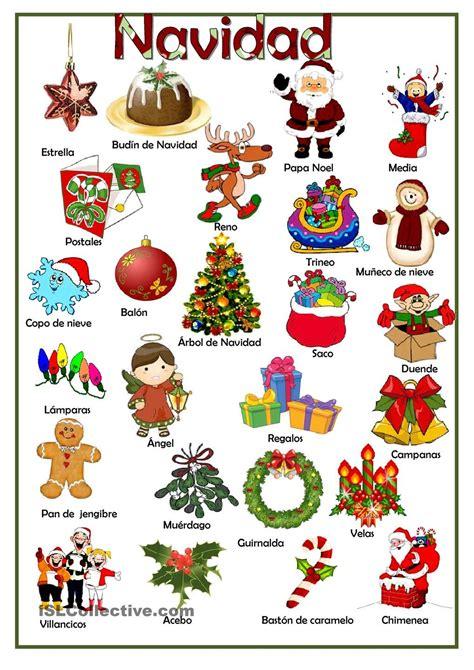 imagenes de navidad en ingles y español navidad trabajos hojas de trabajo de ele gratuitas