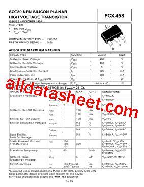 diodes inc ta suffix fcx458ta datasheet pdf diodes incorporated