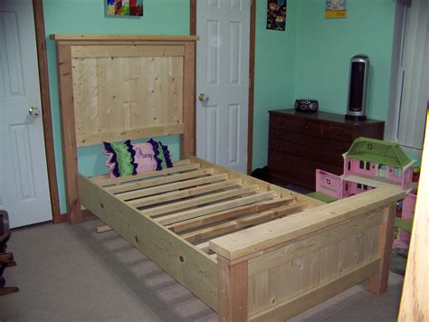 ana white twin farmhouse bed diy projects