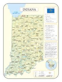 Indiana Zip Code Map by Indiana Wall Maps National Geographic Maps Map Quest