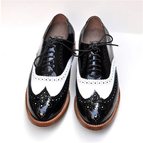 s high end sneakers black patent leather white spell color high end handmade