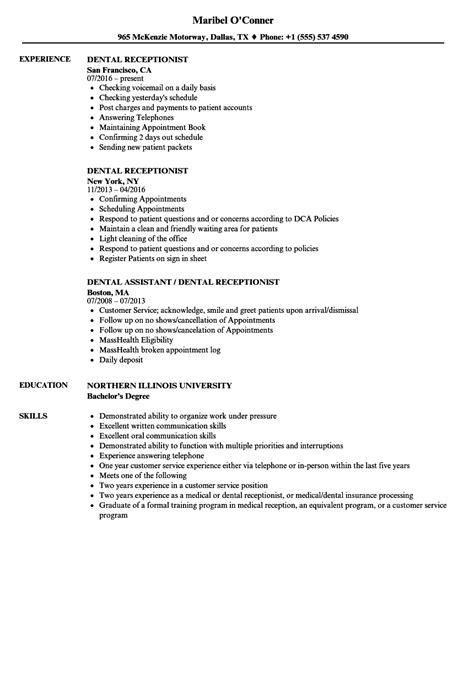 example resume receptionist job vintage receptionist job description