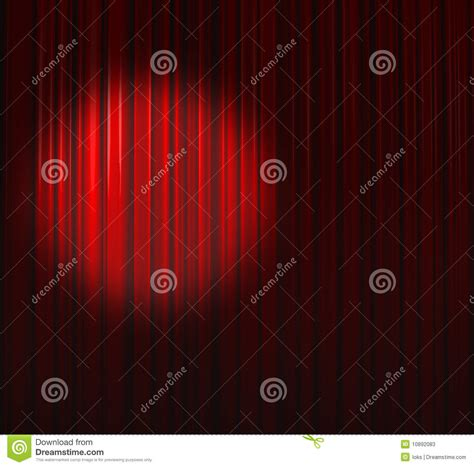 deep red curtains deep red curtain with small spot left stock photos image