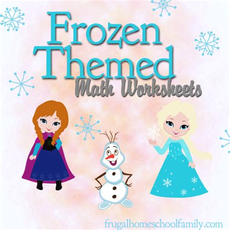 printable frozen theme free frozen themed math worksheets math worksheets