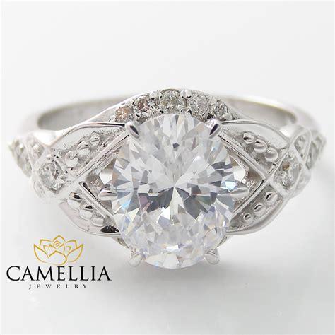 eheringe unikate oval engagement ring 14k white gold unique engagement
