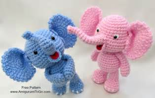 little bigfoot elephant video and pattern amigurumi to go