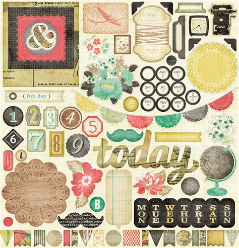 american crafts diy american crafts crate paper diy shop collection 12 x 12 chipboard stickers