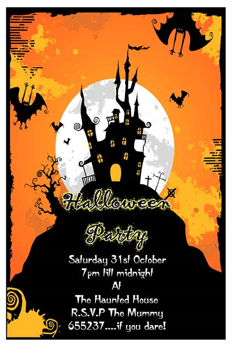 free printable halloween borders invitations how to make halloween party invitations all invitations