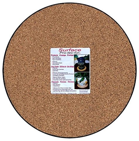 floor protectors for plants cwp mc 1200 plant mat natural cork 12 inch home garden