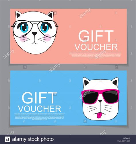 printable shopping gift vouchers gift voucher template with cute hand drawn cat discount