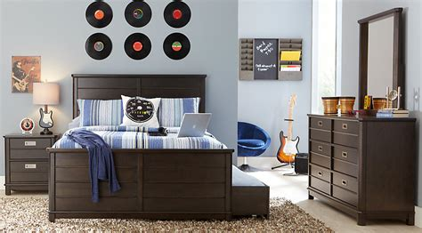 full size teenage bedroom sets bay street charcoal 5 pc full panel bedroom teen bedroom